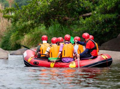 Junggesellenabschied beim Wildwasserrafting