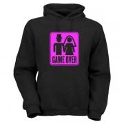 game-over-hoodie-schwarz-pink