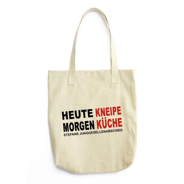 Tragetasche Jutebeutel Heute Kneipe Morgen Kuche Jga Versand