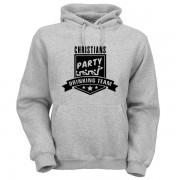 party-drinking-team-hoodie-grau