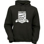 party-drinking-team-hoodie-schwarz