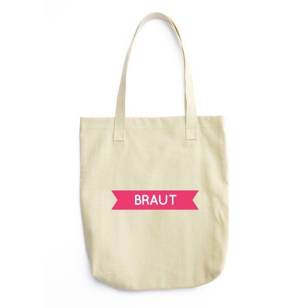 braut-badge-tragetasche