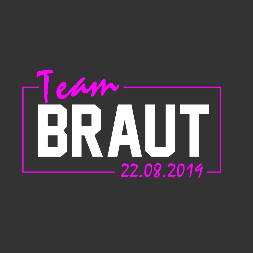 team-Braut-leuchtrahmen